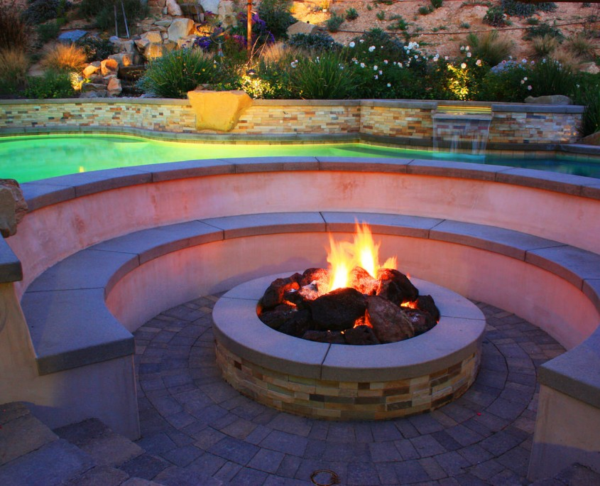 Step Down Fire Pit Area