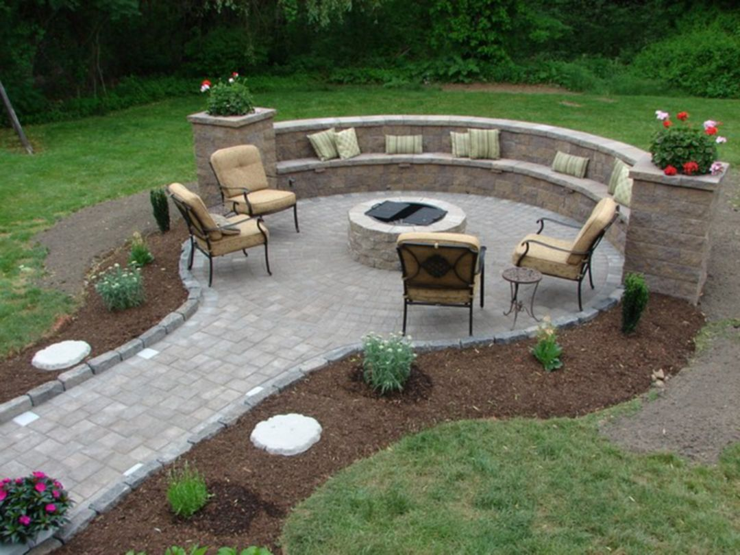 FIRE PIT 8 - Deming Lawn and Landscape on Backyard Patio With Firepit id=35399
