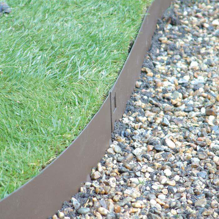 lawn and stone edge